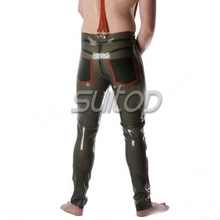 Suitop rubber latex suspender trousers