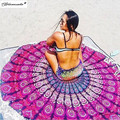 Yamala Round Indian Mandala Tapestry Printed Hippie Wall Hanging Boho Beach Throw Towel Yoga Mat Bed Sheet Tablecloth Home Decor