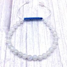 6 mm AA Moonstone Bracelet Hand Made For Women Men Or Girls Good Gift 18.5 cm