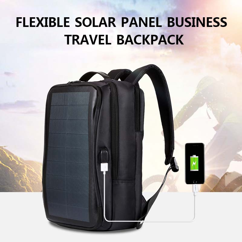 Men Solar Power Charge Backpack Laptop Daypack Business Travel Waterproof Bags BB55Men Solar Power Charge Backpack Laptop Daypack Business Travel Waterproof Bags BB55