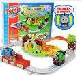 Campo de la minería eléctrico Thomas tren, mayor extensión de vagones de ferrocarril, vías del tren juguetes, venta al por menor, al por mayor, envío gratis