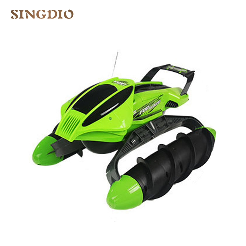 Super power амфибия дистанционного управления автомобиля игрушек игрушка танк адаптироваться к различных местах снег Луг песок озера малыш отк