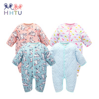 HHTU 2017 Baby Boys Girls Rompers Newborn Keep Warm Quilted Cotton Autumn Winter Thickening Infants Jumpsuits