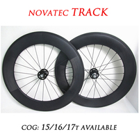 DEERACE 700c 88mm Carbon Clincher Track Wheelset Fixie Fixed Gear Wheels Single Speed 23mm V Shaped Rims