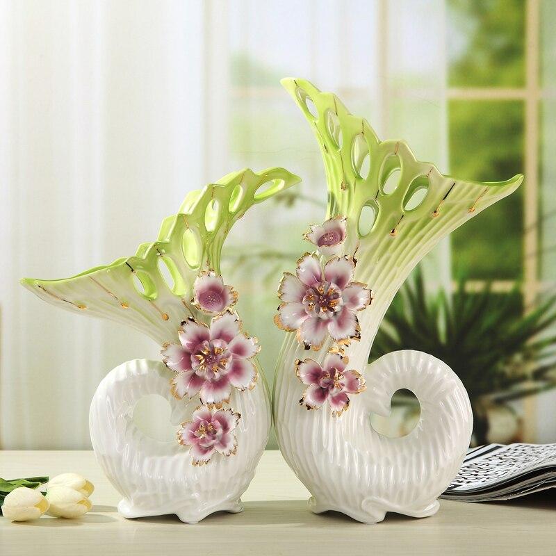Ceramic Morning Glory Flower Vase Pair Ornamental Porcelain Rhaliexpress: Bedroom Flowers With Vase At Home Improvement Advice