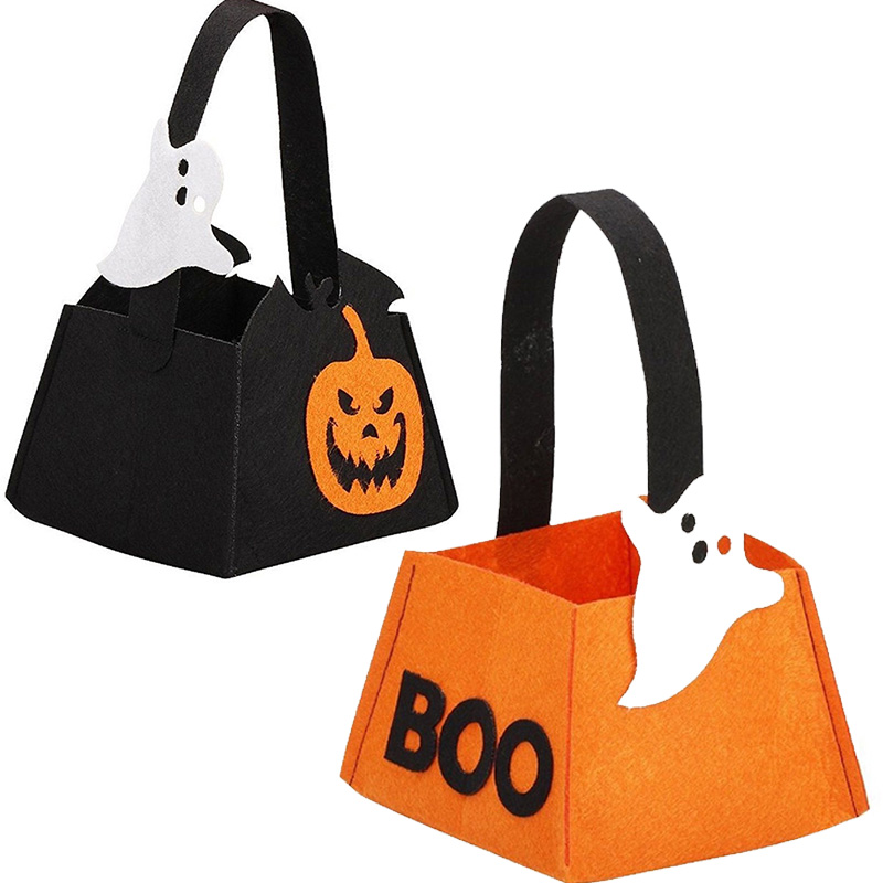 pumpkin ghost halloween wedding party favors candy bag childrens festival handbag non woven halloween - Halloween Handbag