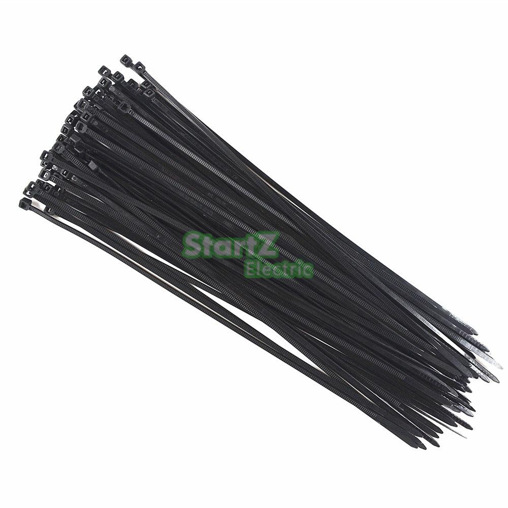 3.8mm Width Self-Locking BlACK PA66 Wire Cable Zip.cable ties SGS Certificated