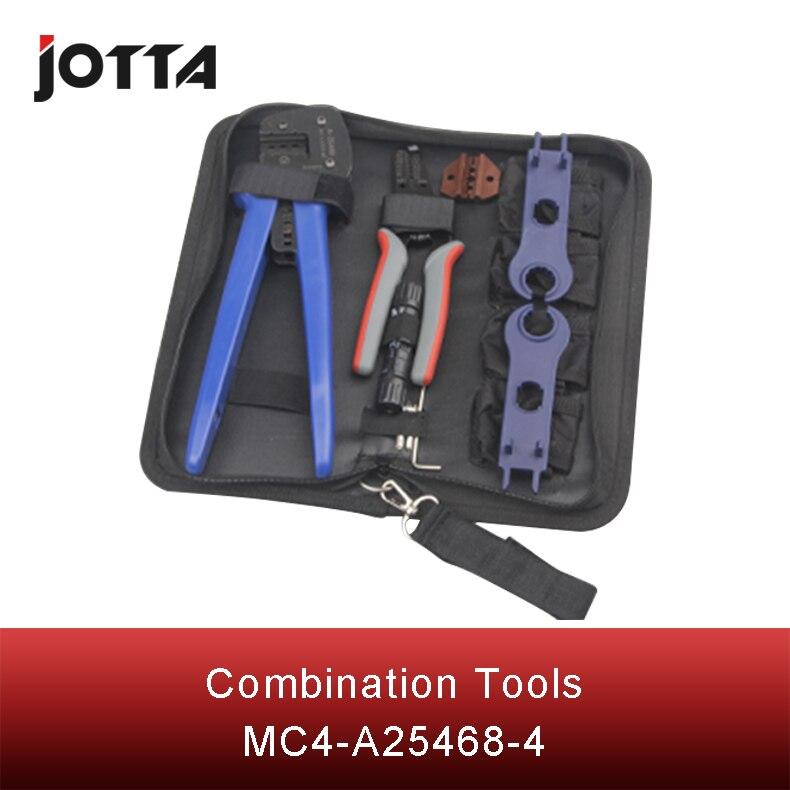 Купить с кэшбэком MC4-A2546B-4 multifunctional photovoltaic connection set of tools