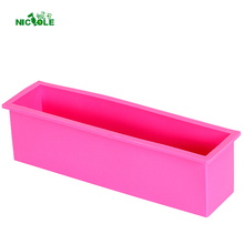 Nicole Silicone Soap Mold Rectangle Liner Loaf Toast Mould Cake Bread Pastry Baking Bakeware