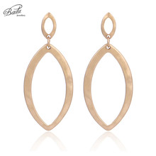 Badu Gold Oval Earring Studs for Women Light Weight Stud Earrings Gift Girls Fashion Jewelry