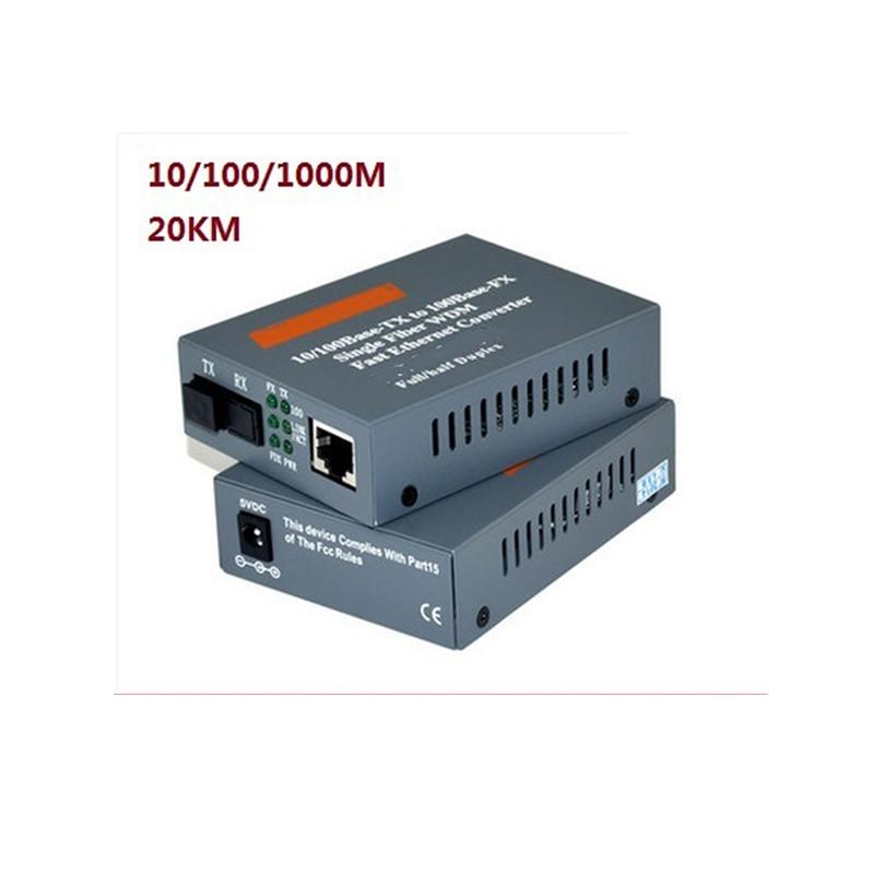 20KM 1000M optical fiber transceiver GS-03-20KM photoelectric converter Single mode fiber pcie x1 gigabit fiber card single mode 1310nm 10km lc optical transceiver module