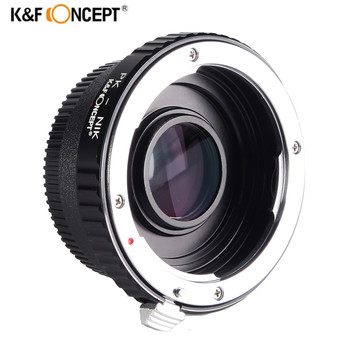 K&F CONCEPT Camera Mount Adapter Ring for Pentax PK K Lens To Nikon AI AF F Optical Glass