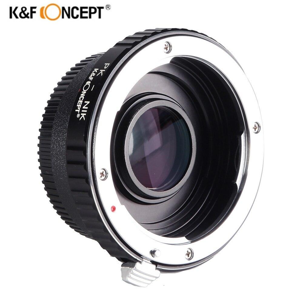K & F CONCEPT Caméra Mount Adapter Ring pour Pentax PK K Lens Pour Nikon AI AF F Optique En Verre