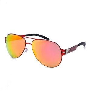 Image 4 - Pilot Brand Designer No Screw Polarized Sunglasses for Men and Women Spectacles Fashional Glasses Oculos with Original Case
