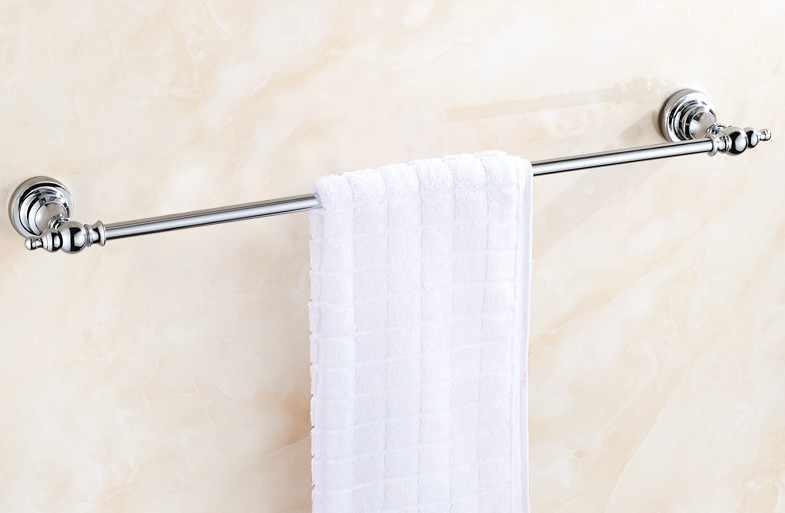 Towel Rail 600MM Chrome Single Bathroom Rack Square Wall Mount Holder Hanger