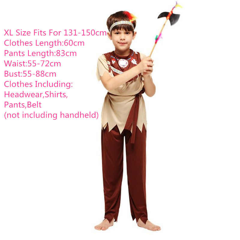 Original Costumes For Kids.Boy Girl African Original Indian Savage Costumes Wildman Cosplay Clothings Halloween Costume For Kids Carnival Party