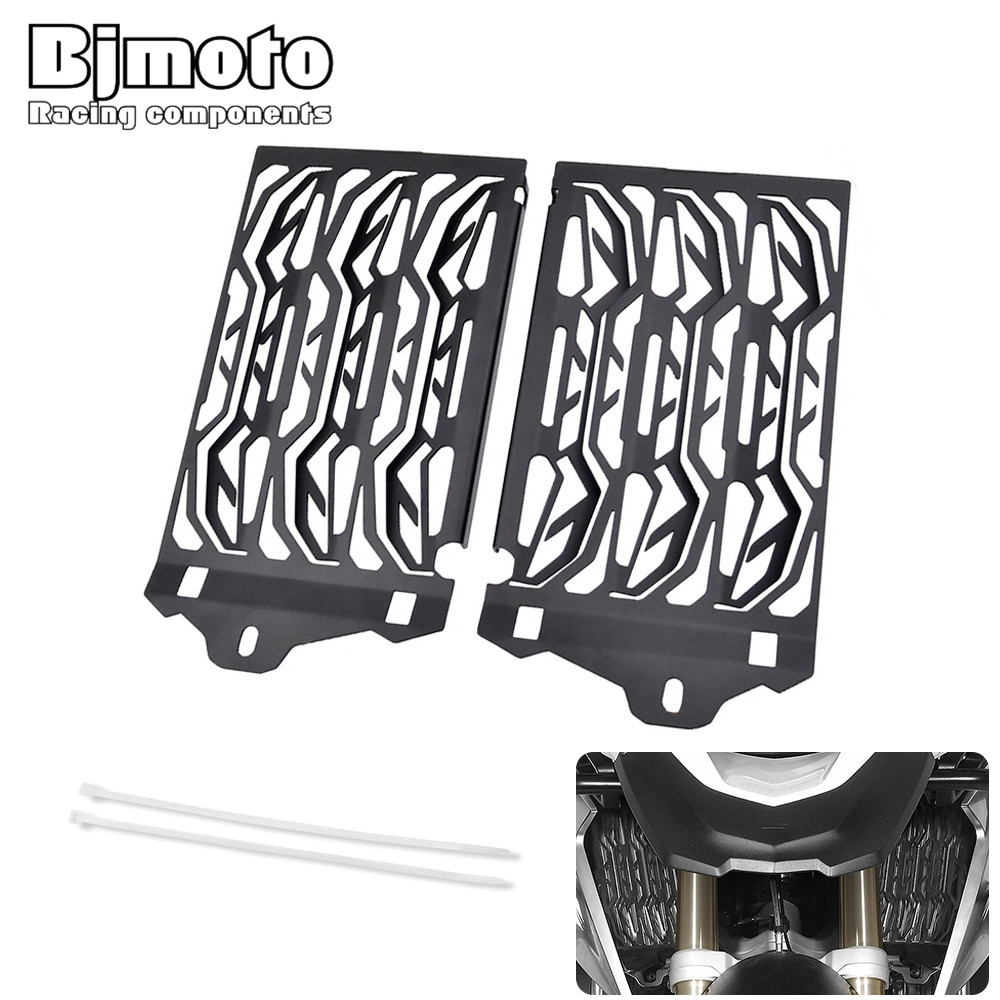 Bjmoto motorcross Stainless Motorcycle Radiator Guard Cover Protector For BMW R1200GS GSA ADV Adventure Water-Cooled 2013-2017 motorcycle radiator grill grille guard screen cover protector tank water black for bmw f800r 2009 2010 2011 2012 2013 2014