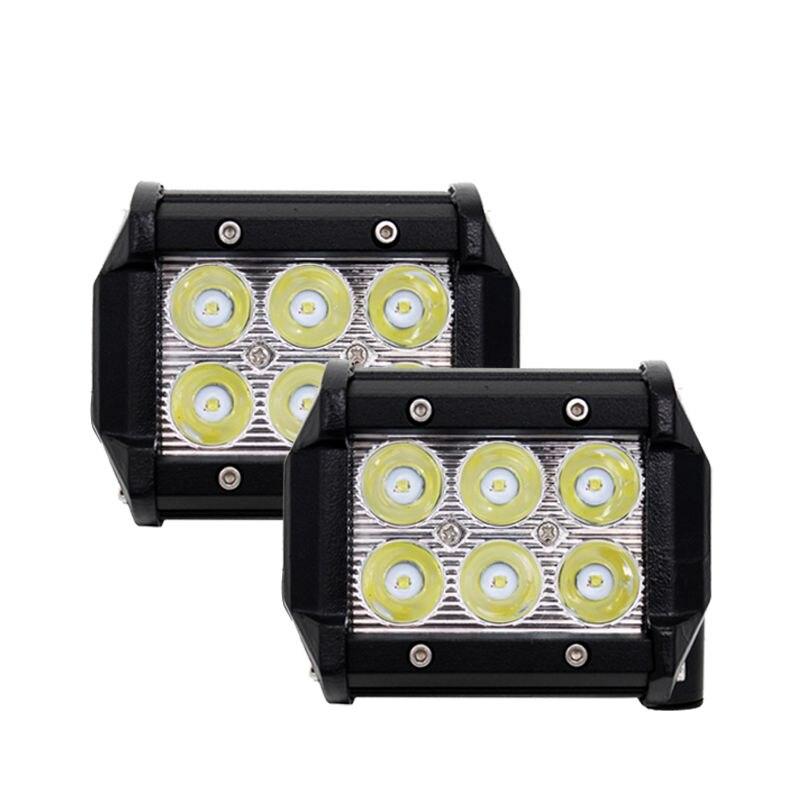1 Pair 4 Inch 18W LED Work Light Spot Beam Car Styling External Light For Tractor