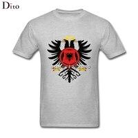 Royal Stemma Della Albania Tee Shirt Da Uomo Bianco Personalizzato Manica Corta Plus Size Boyfriend Coppia T Shirt