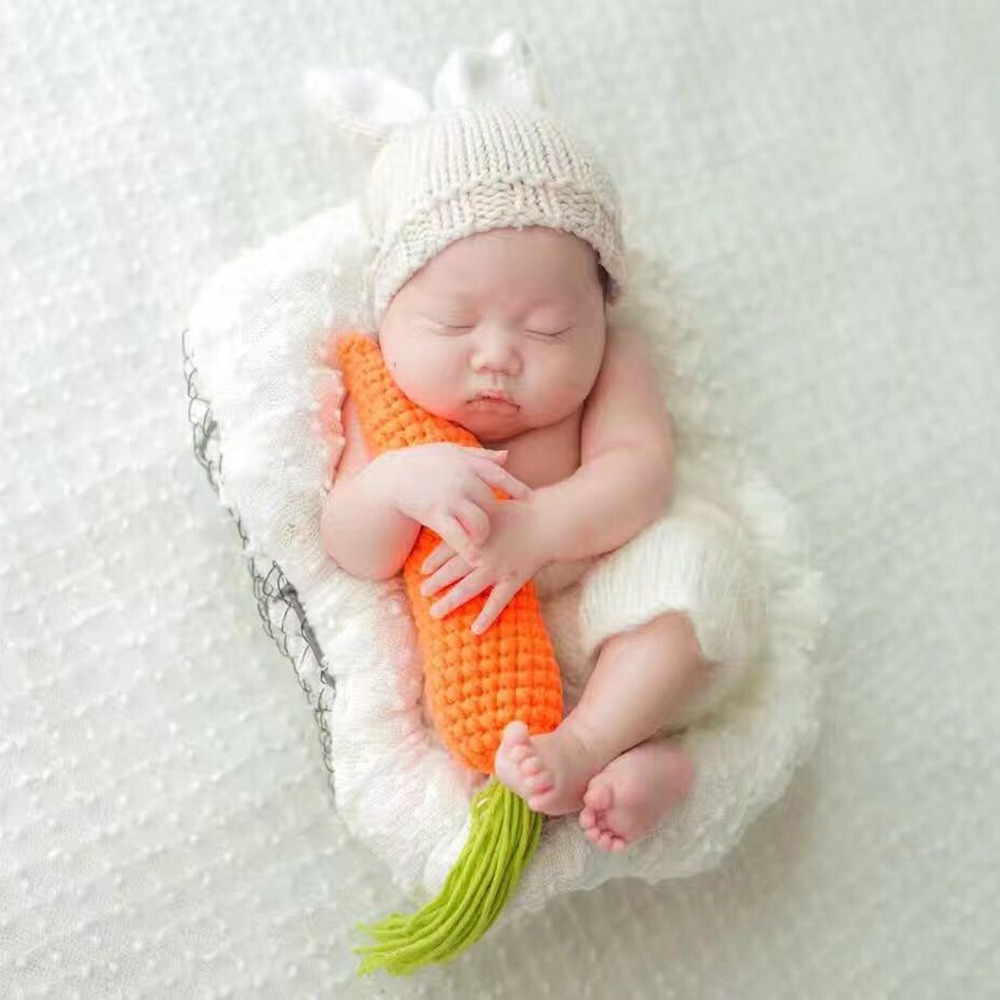 Puseky Cute Newborn Baby Boys Girls Photo Outfits Set Beige Beanie Cap Pants Lovely Carrot Toy Photo Photography Props Sets Photography Props Photo Outfitscute Newborn Aliexpress
