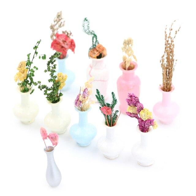 1pcs Mini Vase Miniature Landscape Sand Table Model Dollhouse Decor