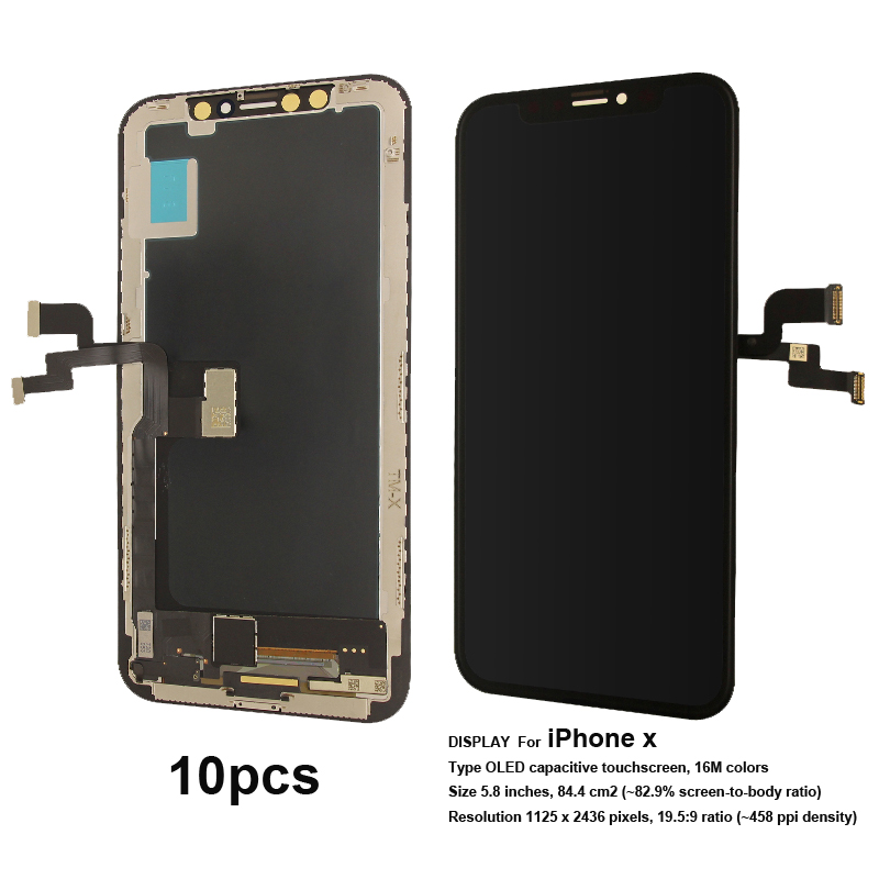 Wholesale 10 Pcs TFT LCD Touch screen replacement For iPhone x DisplayWholesale 10 Pcs TFT LCD Touch screen replacement For iPhone x Display