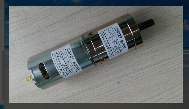 все цены на 190rpm 266rpm 370rpm 24V DC 36mm Planet Geared Motor Planetary Reducer Motor онлайн