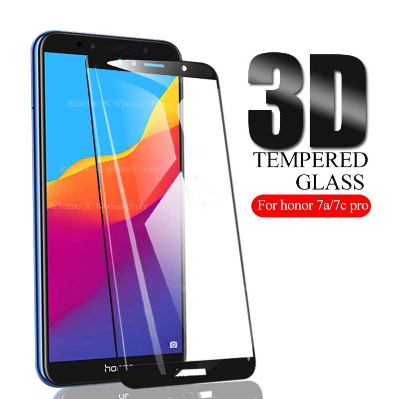 3D Protective Glass For Huawei Honor 7a 7c Safety Screen Protector On Honor 7c 7a Pro Tempered Glas 7apro 7cpro 7 A C Film Cover