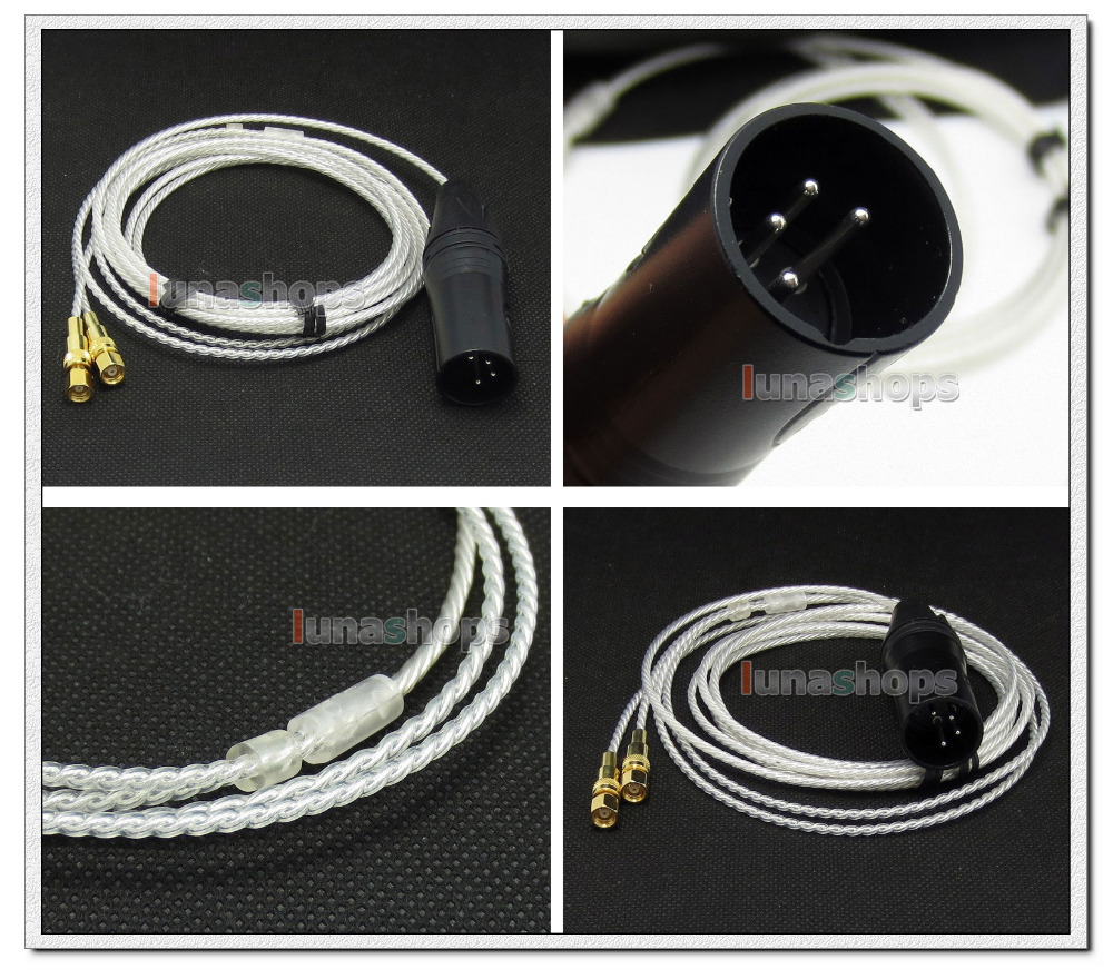 4pin XLR PCOCC + Silver Plated Cable for HiFiMan HE400 HE5 HE6 HE300 HE560 HE4 HE500 HE600 Headphone LN004727