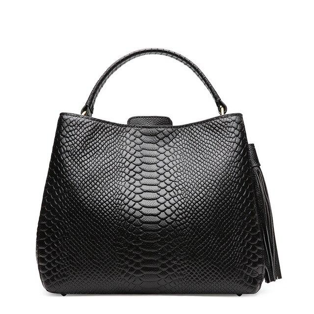 Piccola borsa a tracolla per le donne borse a tracolla delle signore retro del cuoio genuino della borsa della borsa con nappe femminile crossbody bag
