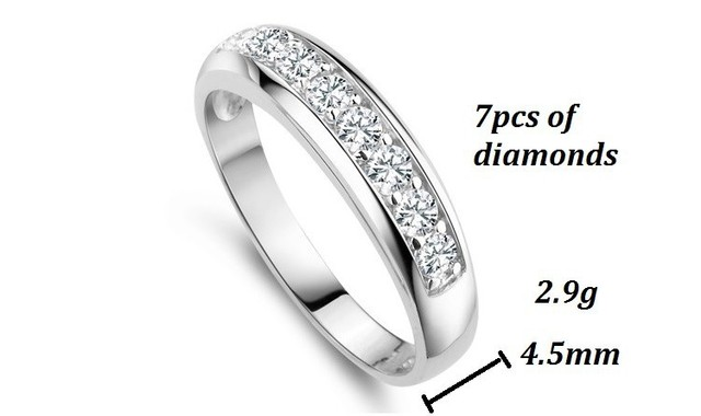Charms Ring for Women Wedding