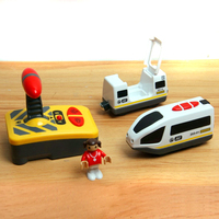 W04 Free Shipping Remote Control Electric Train 2 Section Magnetic Link Compatible Thomas Wooden Track White