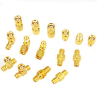 SMA RF Adapter Kit SMA 15 Type Straight Nickel Gold Plated SMA Male Female