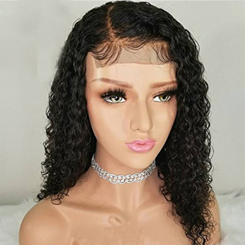 Remy Hair Lace Front Wig Pre Plucked Lace Front Human Hair Wigs Natural Water Wave With