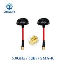 5.8 ghz antena do ganho alto do cogumelo da transmissão da imagem da antena fpv do uav quadcopter 5800 mhz sma fêmea ziisor Z221 B5G8SK