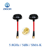 Buy 5.8GHz UAV Quadcopter FPV Antenna Image Transmission Mushroom High Gain Antena 5800Mhz SMA Female Ziisor Z221-B5G8SK directly from merchant!