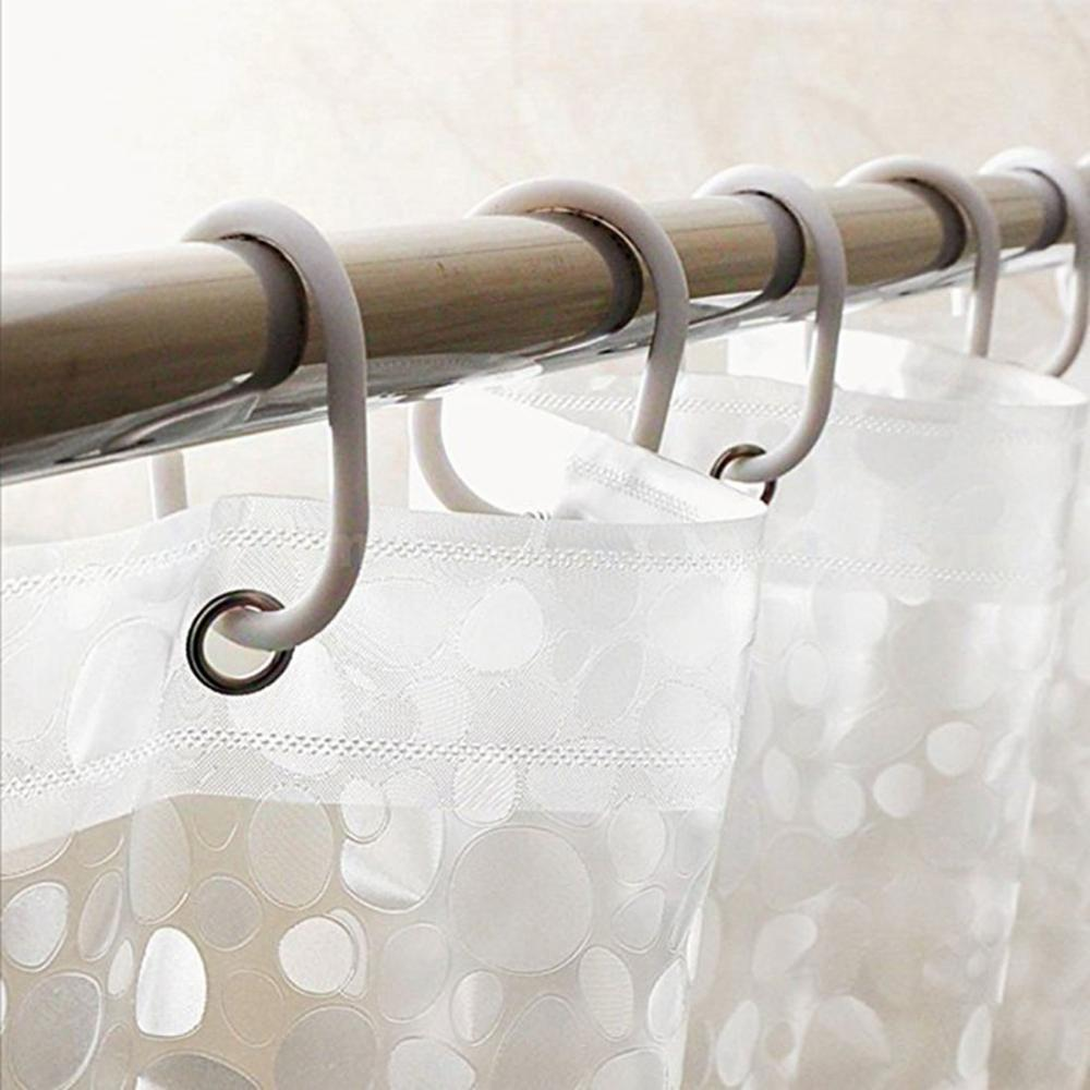 Image 3 - New Popular PVC Waterproof Shower Curtain Thickening Three Dimensional Printed Transparent Bath Curtain for Bathroom Decor-in Shower Curtains from Home & Garden