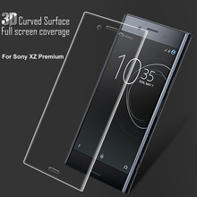 3D Curved Edge Front Full Cover Tempered Glass For Sony Xperia XZ Premium E5563 G8142 9H Screen Protector For Sony Xperia XZP