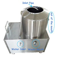 Electric Potato Peeling Machine 150 220 kg/h Potato Peeler With Cleaning Function High Efficiency Peeling Machine YQ 350