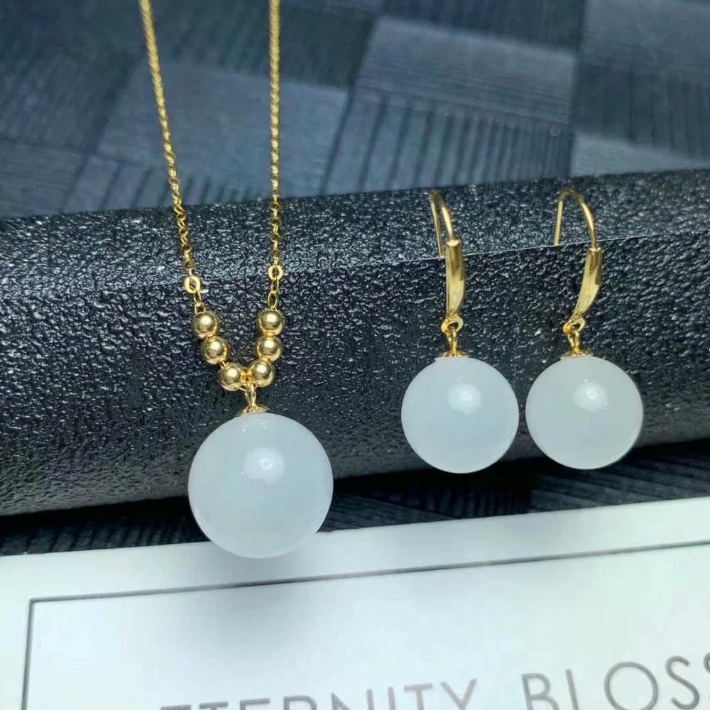 Shilovem 18 k or jaune citrine pendentifs boucles d'oreilles bijoux fins femmes fête nouveau aucun collier cadeau 12*12mm mymtz121208j