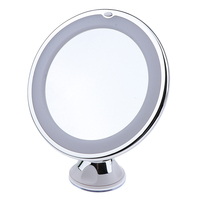 10X Magnifying LED Lighted Makeup Shaving Mirror 360° Rotation Lock Suction