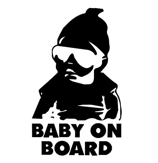 Car decals cool baby on board 9 x15 cm car stickers waterproof outdoor decals