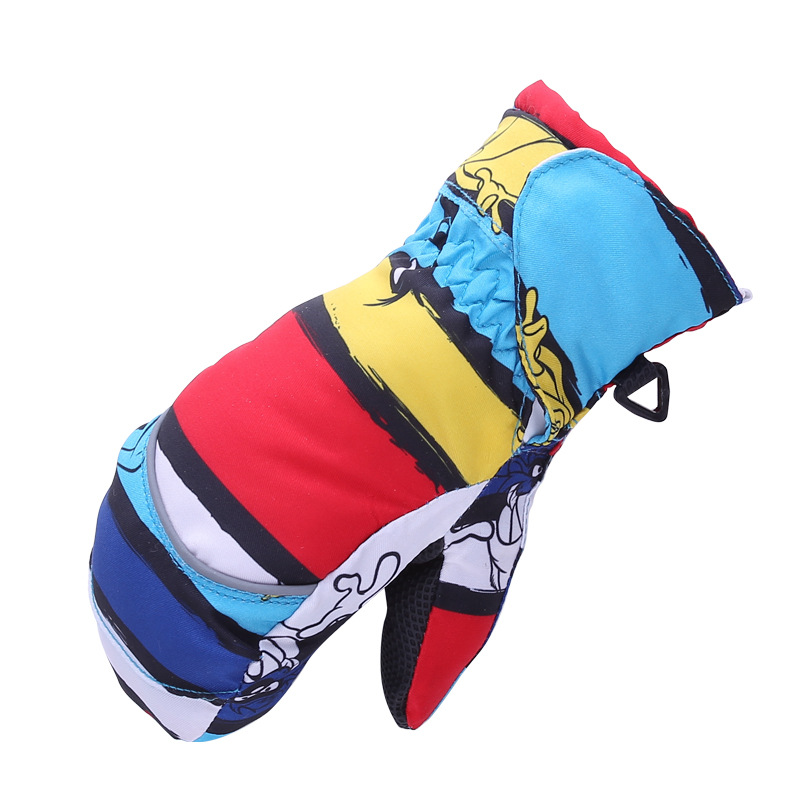 Hot Sale Winter Kids Skiing <font><b>Gloves</b></font> Thick Super <font><b>Warm</b></font> Snow Ski <font><b>Gloves</b></font> Snowboard Cycling Outdoor Sport Windproof <font><b>Gloves</b></font> Children
