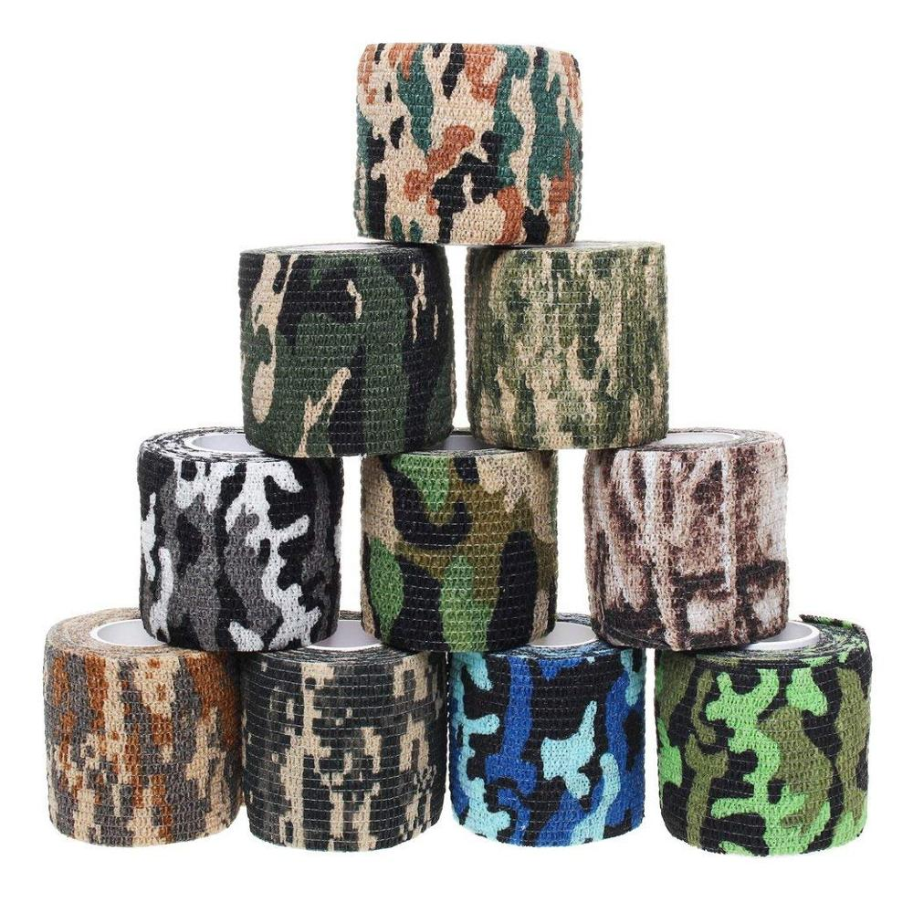 Camouflage Sports Elastoplast Self Adhesive Bandage Muscle Tape Self Adherent Cohesive Wrap Bandages Outdoor/First Aid ToolCamouflage Sports Elastoplast Self Adhesive Bandage Muscle Tape Self Adherent Cohesive Wrap Bandages Outdoor/First Aid Tool