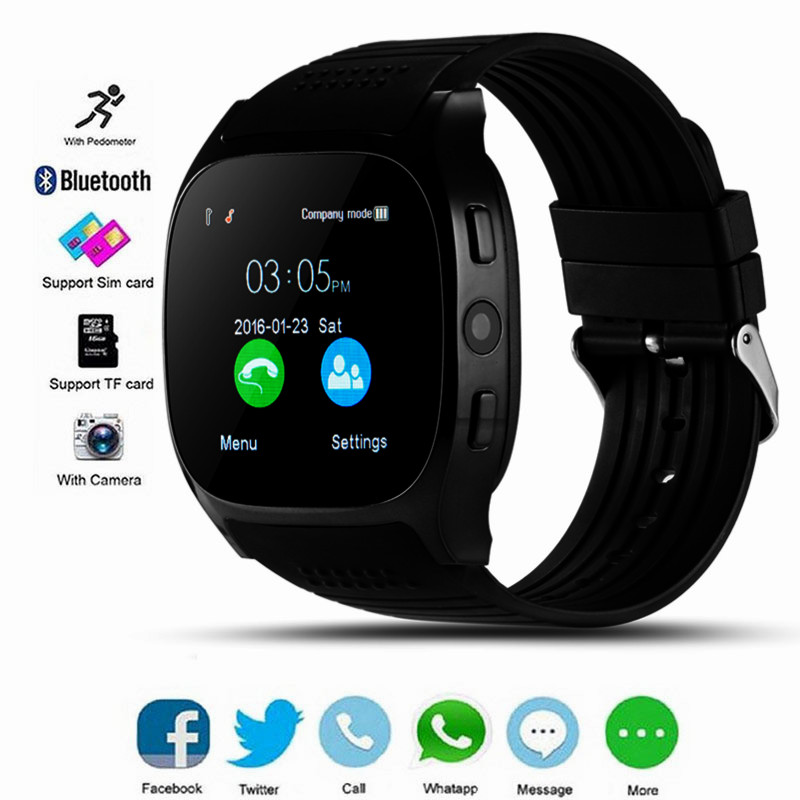 Bluetooth Smart Watch For Men Support SIM TF Card With Camera Camera Smartwatch For ISO Android Phone PK Q18 DZ09 Apple Watch
