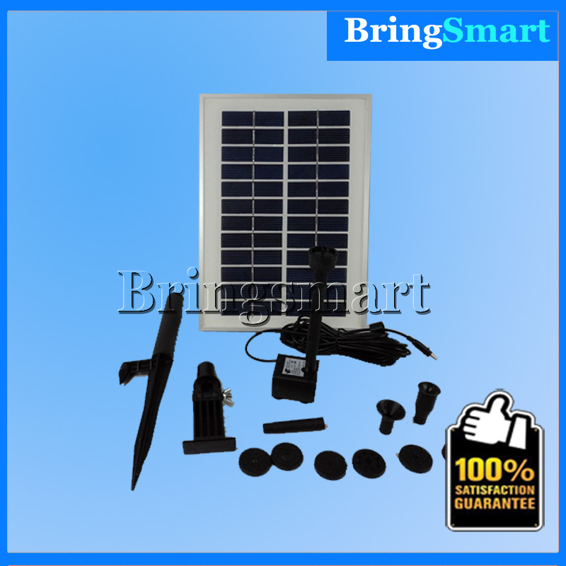 Free shipping JT-280-5W lift 160CM DC Pump Pool Brushless Solar Water Pump Kit Landscape Fountain Floating Pump Bringsmart 3 years guarantee solar wells pumps made in china solar pool pump kit