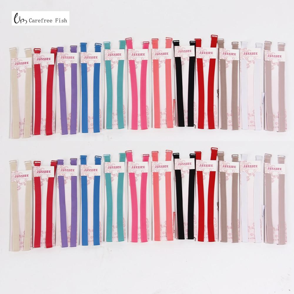 1.5cm Candy color double-shoulder adjustable shoulder strap pectoral girdle neon color elastic bra strap multicolour underwear