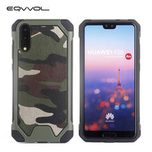 Eqvvol Three In One Army Green Camouflage Fashion Case For Huawei P20 P10 P9 P8 Lite P9 Plus Soft TPU Silicon Phone Cases Cover(China)