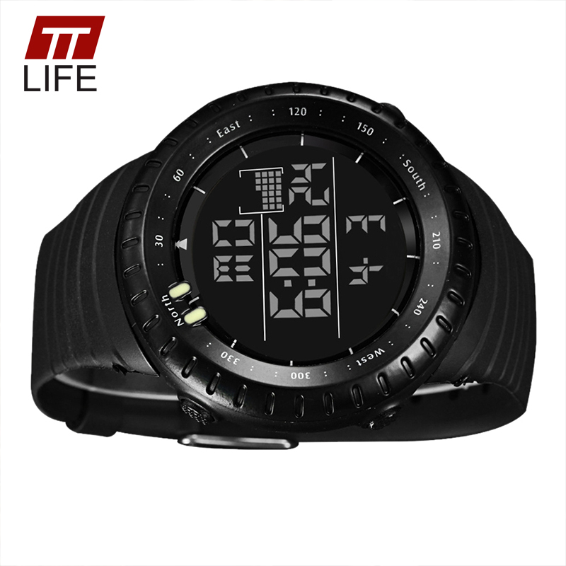0bf27bba2882 TTLIFE Luminous LED Large Face Mens Watches Waterproof Shockproof Stopwatch  Calendar Backlight Digital Sports Watch Men Alarm-in Digital Watches from  ...