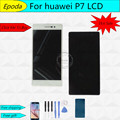 100% original warranty For Huawei ascend p7 5.0'' LCD display+Touch Screen Digitizer glass Assembly replacement free shipping